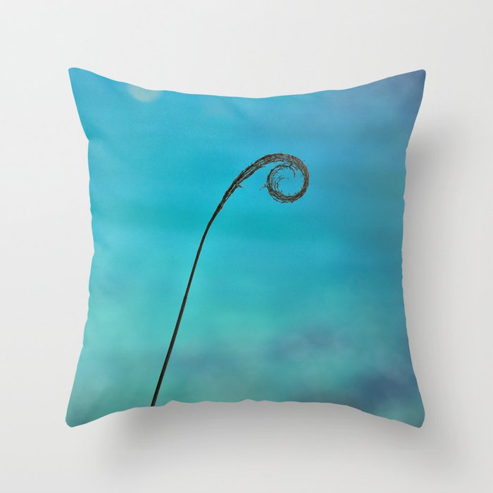 Curl of the Sea Throw Pillow