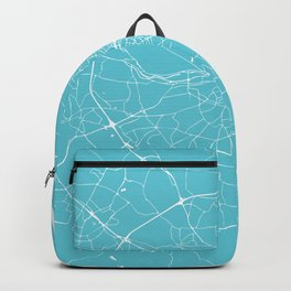 Dublin Street Map Turquoise and White Backpack