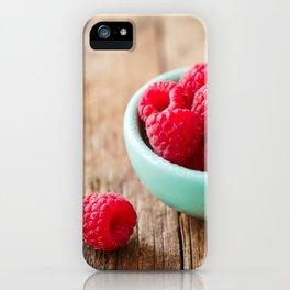 Raspberries iPhone Case