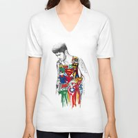 superhero V-neck T-shirts featuring Zayn Superhero  by Coconut Wishes