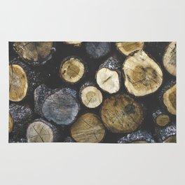 Stacked wood Rug