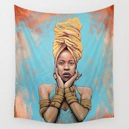 Erykah Badu Music Icon Portrait Painting RnB Tribute Art Wall Tapestry