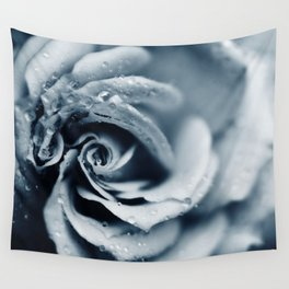 Rose - powder blue Wall Tapestry