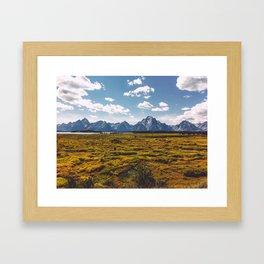 Jackson Lake Lodge Framed Art Print