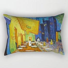 "Vincent van Gogh ""Cafe Terrace, Place du Forum, Arles"" Rectangular Pillow"