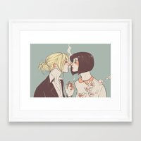 mikasa Framed Art Prints featuring Spring by lazyafternooner
