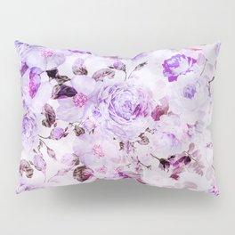 Shabby vintage lavender violet watercolor floral Pillow Sham