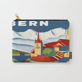 Vintage Bern Switzerland Travel Carry-All Pouch