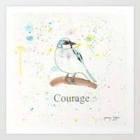 courage Art Prints featuring Courage by Tammy Kushnir