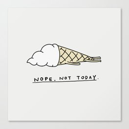 Nope Ice Cream Canvas Print
