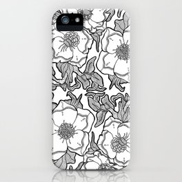 Floral Pattern Hybrid iPhone Case