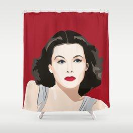 Hedy Lamarr portrait Shower Curtain