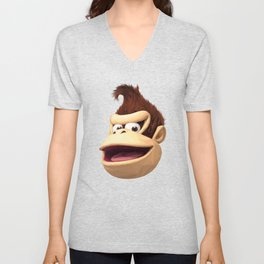 Triangles Video Games Heroes - Donkey Kong Unisex V-Neck