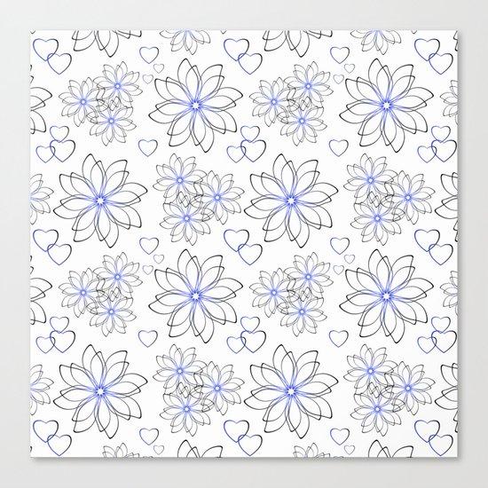 Cute floral pattern. Canvas Print