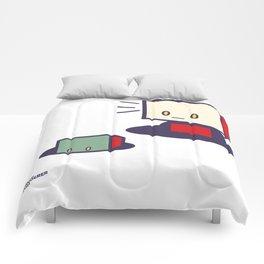 robots in holes Comforters