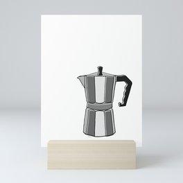 Greca on White Mini Art Print
