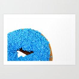 Blue Doughnut Art Print