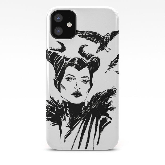 Maleficent Fan Art Angelina Jolie From Sleeping Beauty Iphone Case
