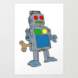 Robot Painted Art Print