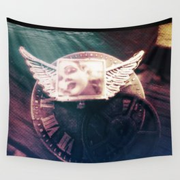 Midnight STEAM steampunk angel by The Whimsical Peacock Wall Tapestry