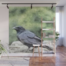 Crows Everywhere Are Equally Black Wall Mural