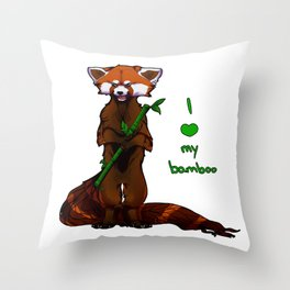 I love my bamboo (tablet) Throw Pillow