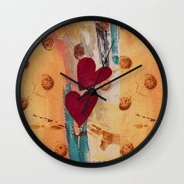Two Hearts as One Wall Clock