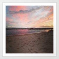 Sandbanks Sunset Art Print