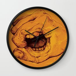 Don't Talk With Your Hands Wall Clock