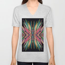 Toothpick Fusion Abstract Pattern Unisex V-Neck