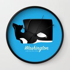 The Washington Whale Wall Clock