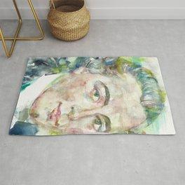 IMMANUEL KANT - watercolor portrait Rug