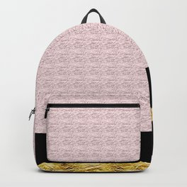 Pink and Gold Backpack
