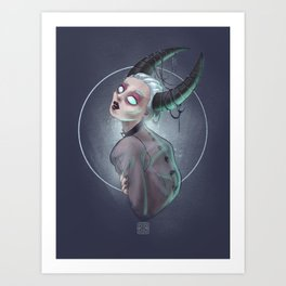 Demon girl Art Print