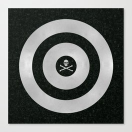 Silver Target Canvas Print
