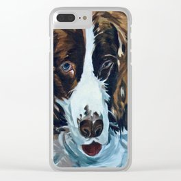 Sammie the Springer Spaniel Clear iPhone Case