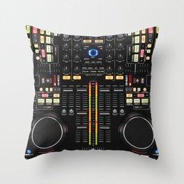 DJ Set NS7 Denon Mc6000 Throw Pillow