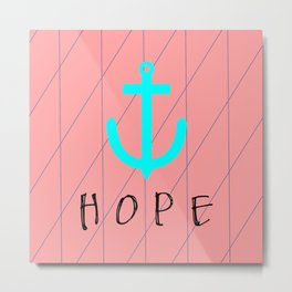 Christian Anchor of Hope Metal Print
