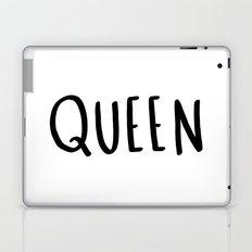Queen - typography print Laptop & iPad Skin