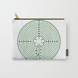 Cathedral of Our Lady of Chartres Labyrinth - Green Carry-All Pouch