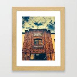 Cotton Exchange Framed Art Print
