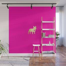 French Bulldog Gold Wall Mural