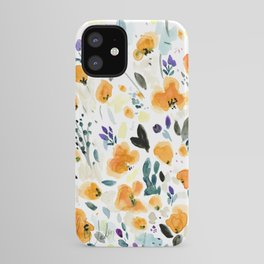 Cali Poppies + wild flowers iPhone Case