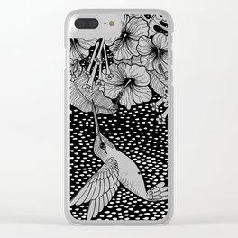 Hummingbird garden Clear iPhone Case
