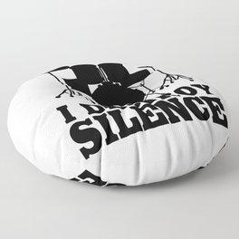 I Destroy Silence Floor Pillow