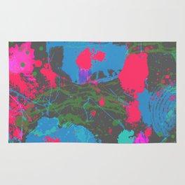 Abstract Urban Painting - Neon Street Art Rug