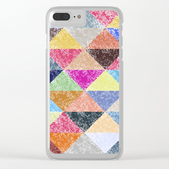 Color texture, Geometric background #2 Clear iPhone Case