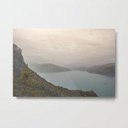 Lake view at sundown Metal Print