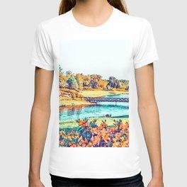 Garden Stroll #painting #nature T-shirt