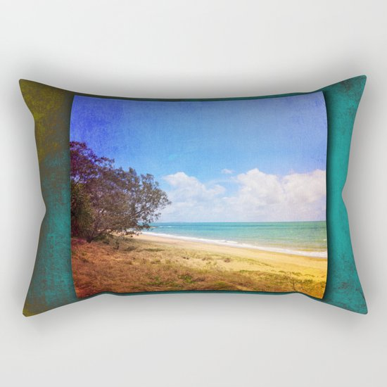Beautiful Day by the Sea Rectangular Pillow